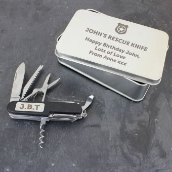Personalised Shield Pen Knife and Box Set