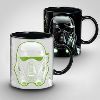Star Wars Rogue One Death Trooper Heat Change Mug
