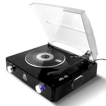 Black GPO Stylo Turntable