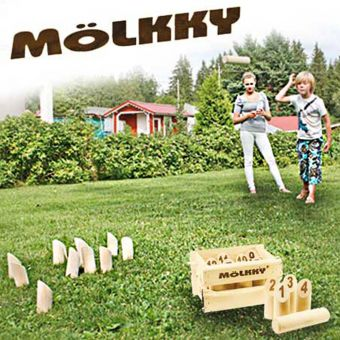 Molkky in Wooden Crate