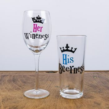 His & Her Glass Set