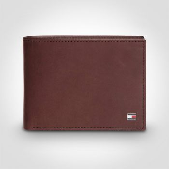 Tommy Hilfiger Eton CC and Coin Wallet Brown