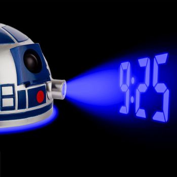 Star Wars The Last Jedi R2D2 Projection Dome Clock