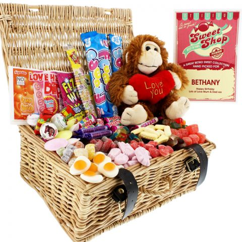 Personalised Sweet Hamper with Cuddly Toy Monster
