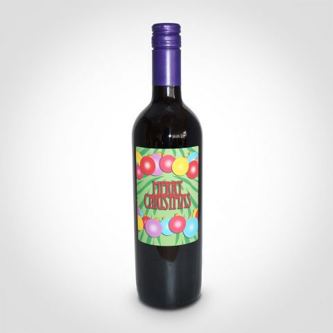 Personalised Merry Christmas Red Wine