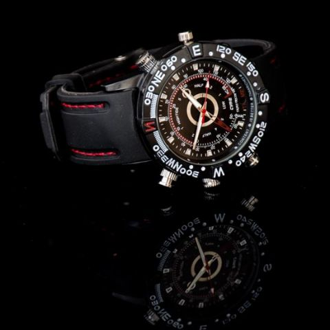 Black Covert Watch Camera