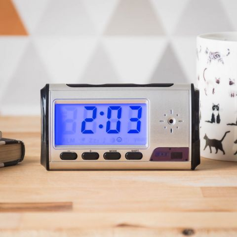 Covert Alarm Clock Camera