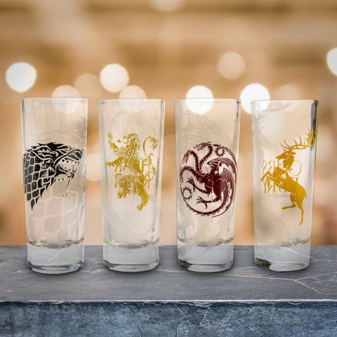 Game of Thrones Four House Shot Glasses