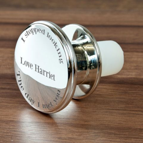 """Personalised """"You're the One"""" Wine Bottle Stopper"""