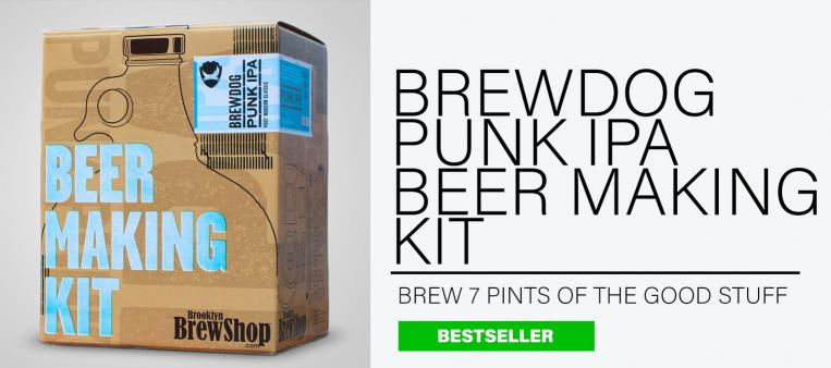 Brewdog Punk IPA Beer Making Kit on a soft grey background is the perfect gift for him