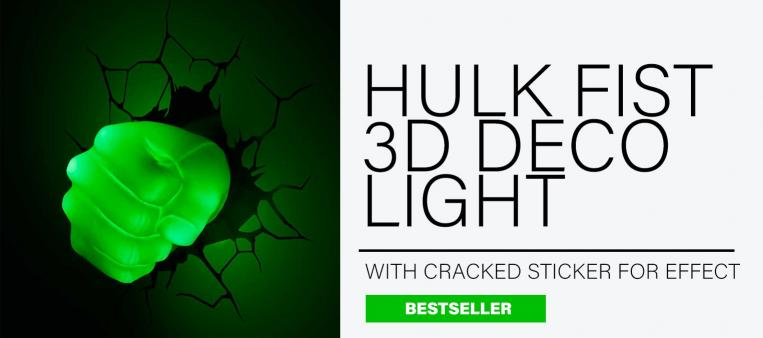 Official Marvel 3D Hulk Fist Light bursts through a wall in this top ten for him gift guide