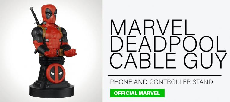 Official Deadpool Cable Guy on a grey background featured as one of the top ten gifts for men