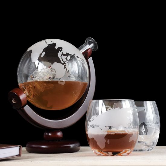 Globe Decanter with Glasses Set