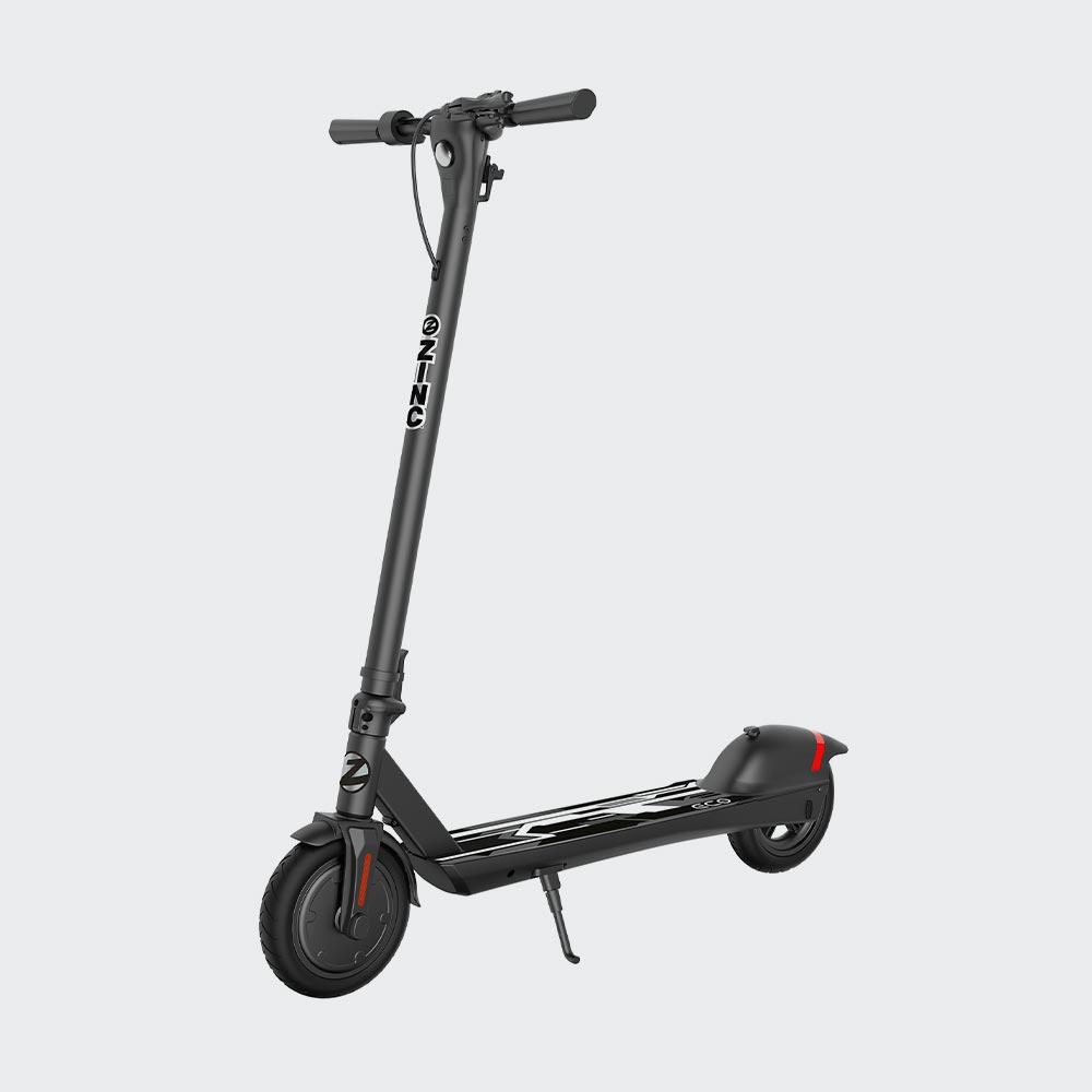 zinc eco max electric scooter on white background