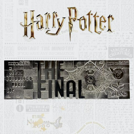 harry potter quidditch worl cup final silver plated ticket limited to 9995 worldwide