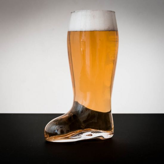 beer boot pint glass