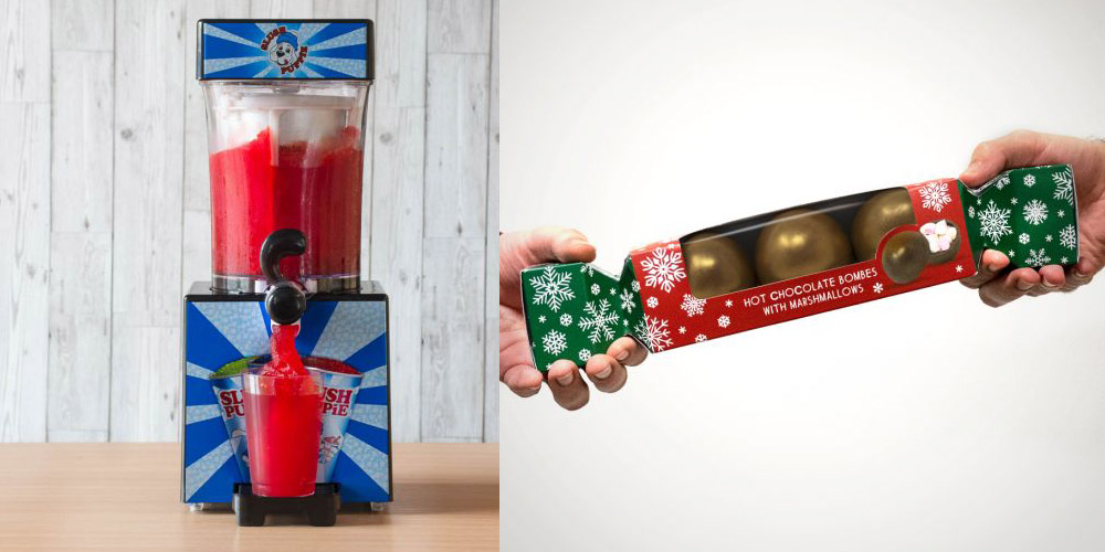 food and drink gifts slush puppie and hot chocolate bombe