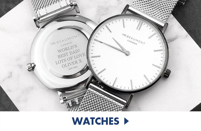 Beautiful selection of classy and engraved watches, excellent traditional gifts for all occasions