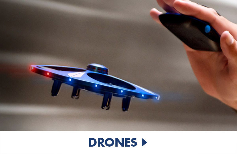 All types of drones, from motion control to stunt and folding drones