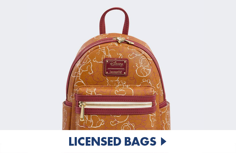 Officially Licensed bags and backpacks, including awesome loungefly bags, perfect for School and travel