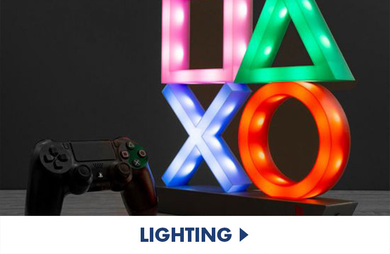 Awesome licensed lights perfect to complete the gaming set up or bedroom