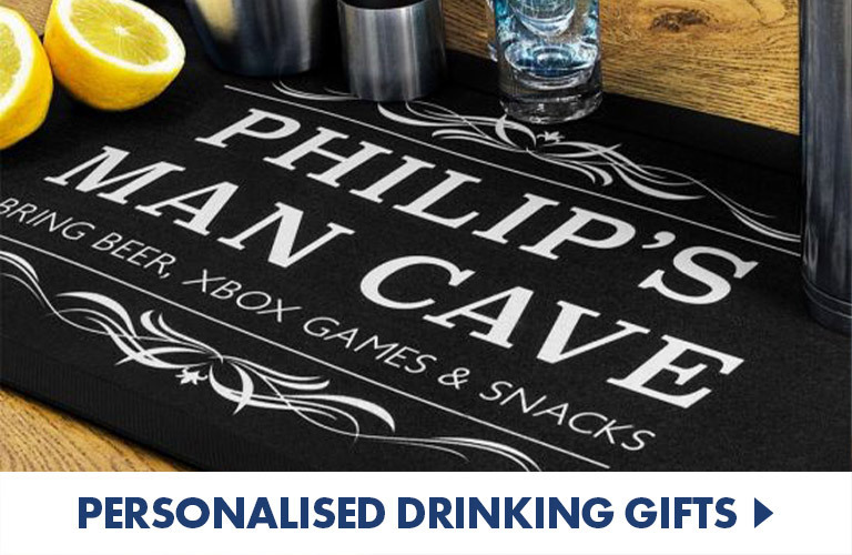 Personalised Barware and drinking gifts