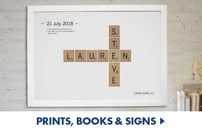 Personalised Prints books and signs - perfect for home or office decor
