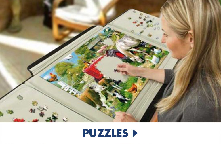 Jigsaw puzzles, mechanical and even 3D puzzles to really challenge yourself