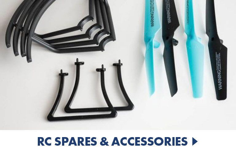 RC spares and accessories, including batteries, blades and more