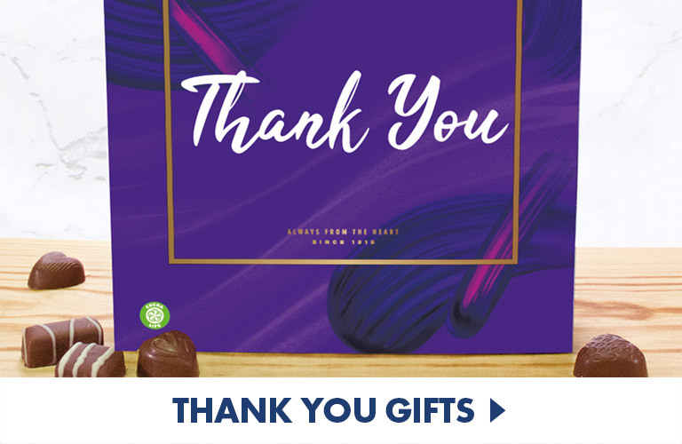 Chocolate, wine, sweets, hampers...loads of thank you gifts to express how grateful you are