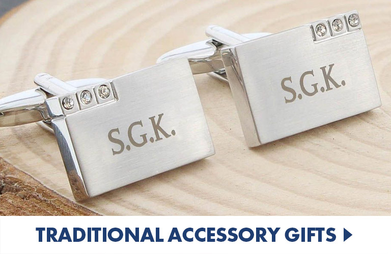 Excellent engraved accessories, watches, wallets and cuflfinks for those with a little class
