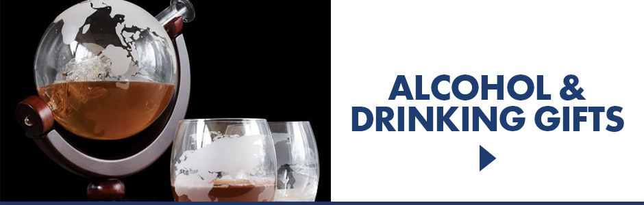Alcoholic drinks and drinking gifts for adults. Decanters, glasses and more.