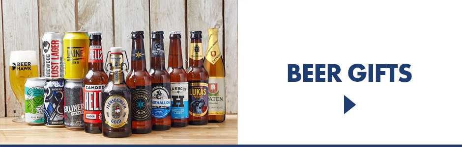 All different beer gifts, from cider and beer making kits to beer glasses and more