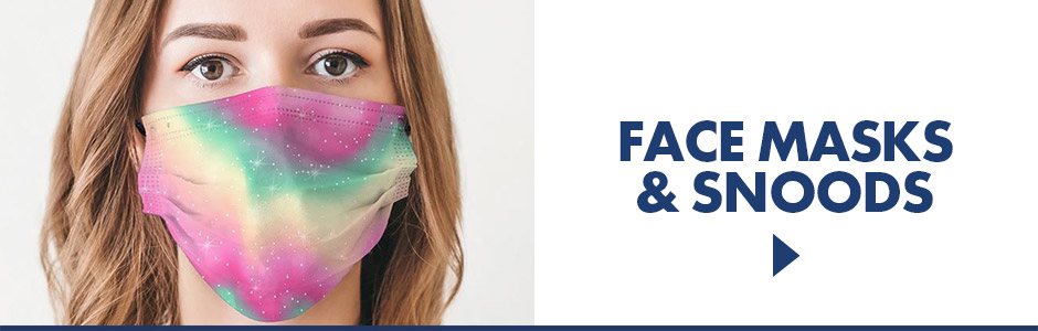 Stay safe while staying fun with our fun and fashionable face maskes and snoods