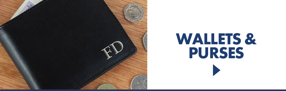 Wide range elegant personalised wallets, secure RFID wallets and even cool licensed wallets for all ages