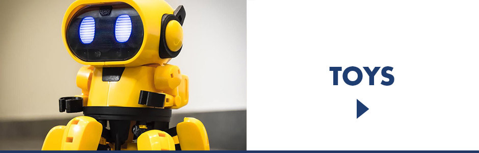 Electronic and Robotic Toys including Tobbie the self-guiding AI robot