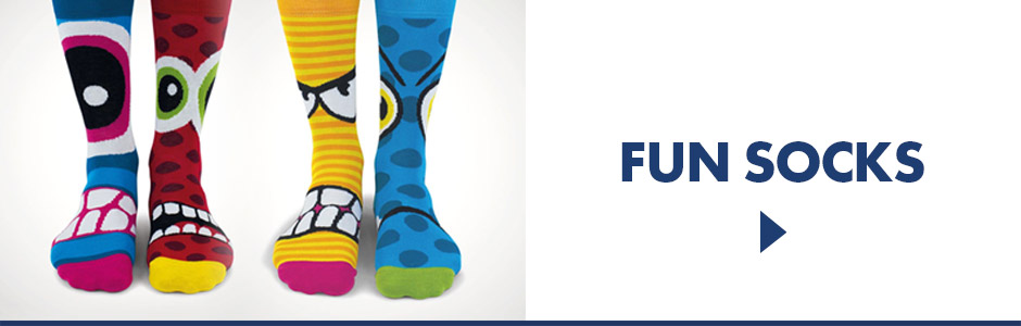 Fun novelty socks for gamers, athletes, golfers, and anyone who likes a laugh