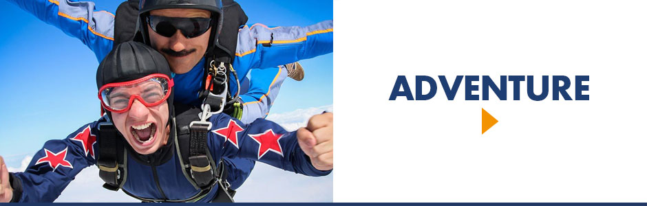 Come explore our once-in-a-lifetime experience thrills for adrenaline junkies