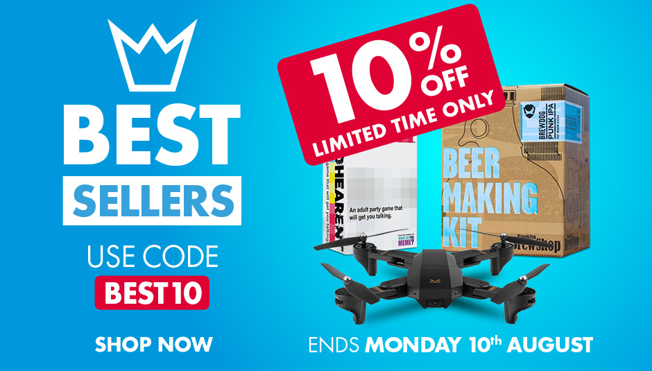 Save 10% today on all our bestsellers, from our light up cyclone speakers to xbox logo lights and chain chomp desk lamps, get all these customer favourites add great value