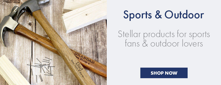 Personalised sports and outdoor gifts - customisable tools for the garden and sports books for the biggest fan in the world