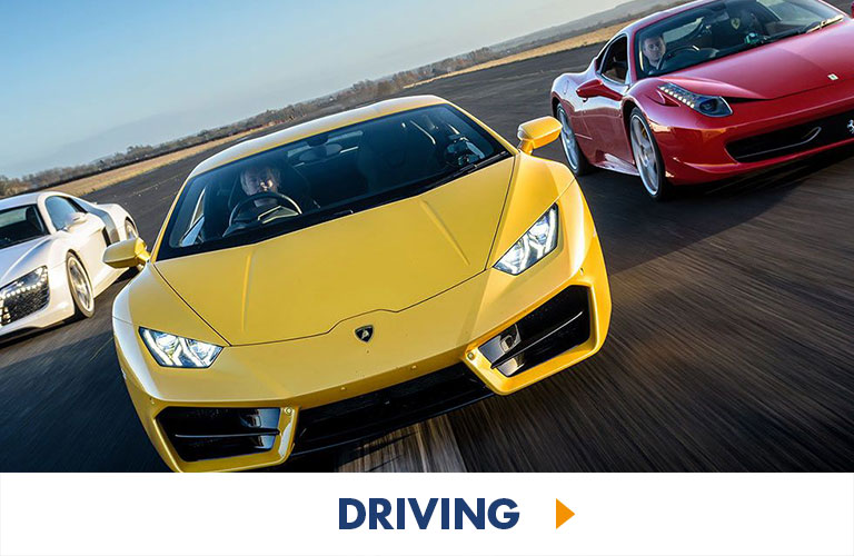 Experience speed like theres no tomorrow with any of our racing experiences, from Kids to Adults to James Bond super-fans