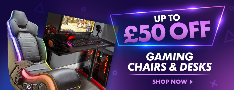 Check out our range of gaming gadgets, including new gaming beds, gaming chairs and gamng desks!