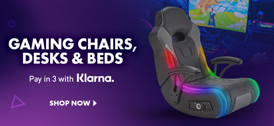 Great gaming chairs, beds, desks and more gaming accessories at great prices