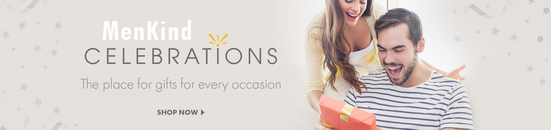 Menkind Celebrations - the place for gifts for every occasion