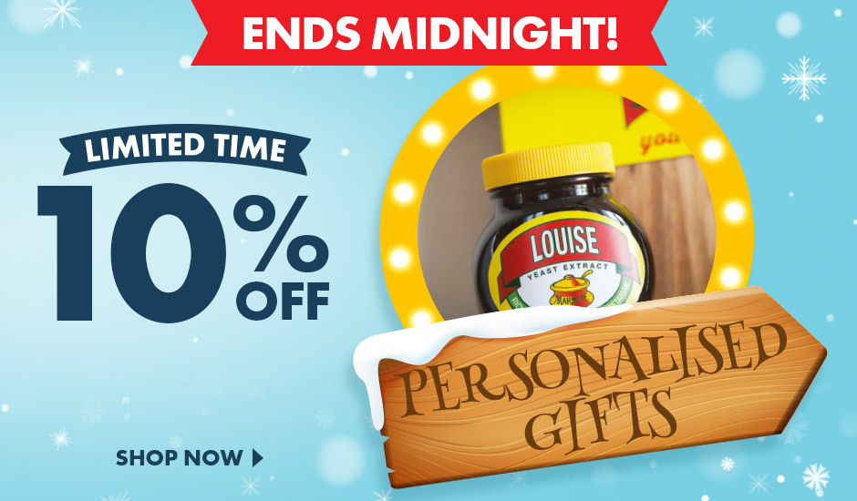 Give something unique with our range of personalised products, and save 10% while you're at it!