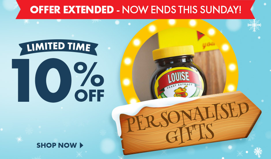 Save 10% for a limited time on our personalised christmas gifts