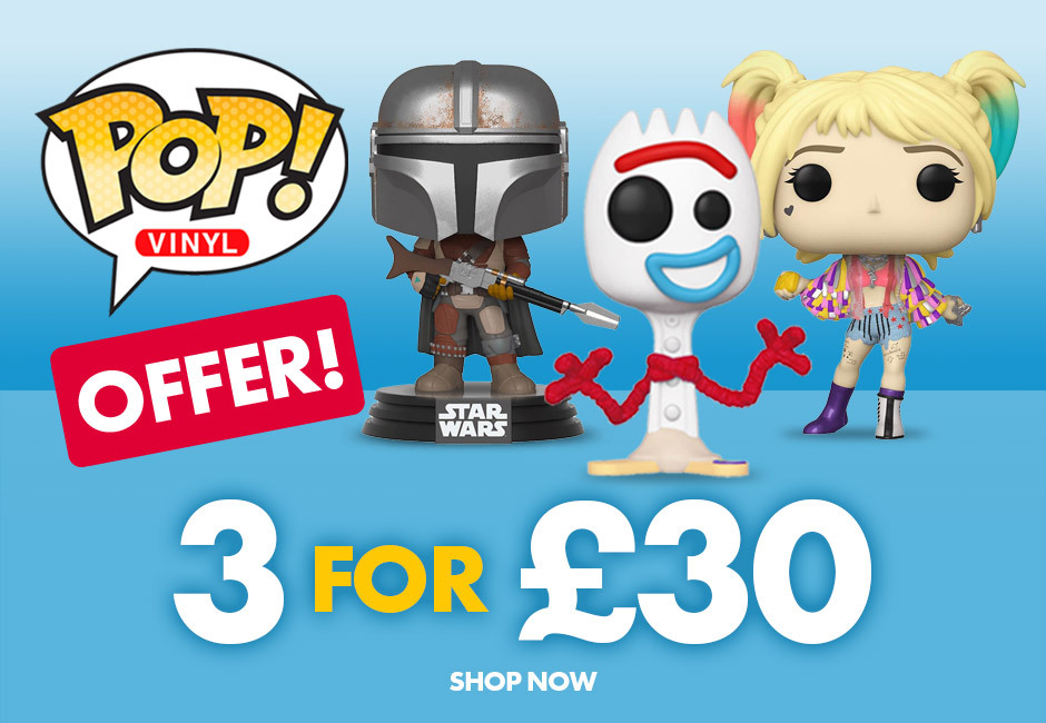 Funko Pop! Vinyl 3 for £30 off including Toy Story's forky, baptiste from overwatch and Vanya Hargreeves of Umbrella academy. Plus great deal on Harry Potter and DC funkoverse board games