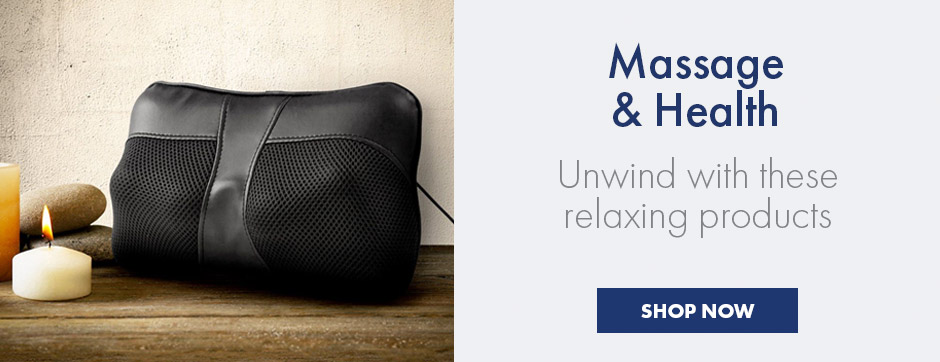 Massage & Health - unwind and relax with these relaxing gifts and products