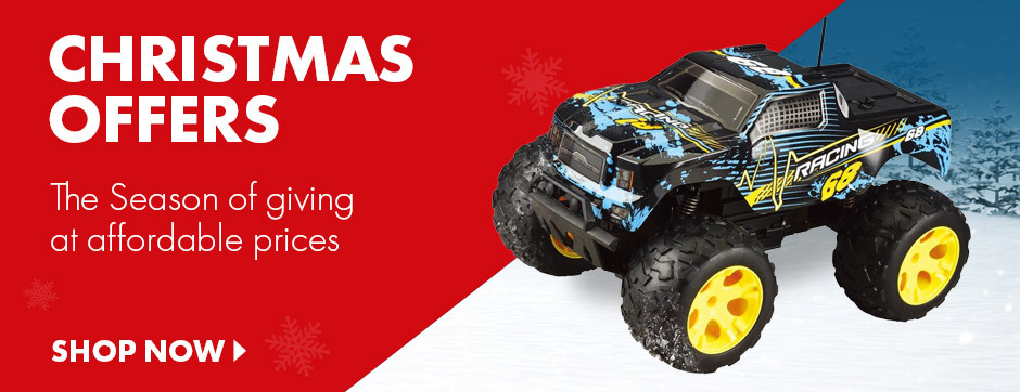 Great Christmas offers on affordable gifts like our radio controlled racing truck