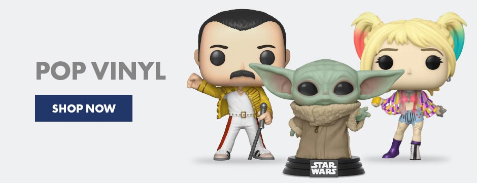 The best  place to collect all your favourite Funko Pop! Vinyls at great prices, from old favoruites like Freddie Mercury to new heroes and villains, such as Harley Quinn and Baby Yoda